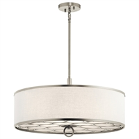 Picture for category Semi Flush 4 Light With Brushed Nickel Finish Steel Material Medium 24 inch 400 Watts