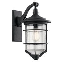 Picture for category Wall Sconces 1 Light With Distressed Black Finish Aluminum Medium 10 inch 100 Watts