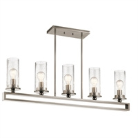Picture for category Island Lighting 5 Light With Classic Pewter Finish Steel Medium 4 inch 500 Watts