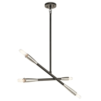 Picture for category Chandeliers 4 Light With Black Finish Steel Drum Material Medium 3 inch 240 Watts