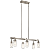 Picture for category Island Lighting 6 Light With Classic Pewter Finish Steel Medium 15 inch 360 Watts