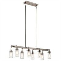 Picture for category Island Lighting 8 Light With Classic Pewter Finish Steel Medium 15 inch 480 Watts