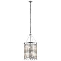 Picture for category Chandeliers 6 Light With Chrome Finish Steel Drum Candelabra Base 16 inch 360 Watts