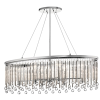 Picture for category Chandeliers 6 Light With Chrome Finish Steel Drum Candelabra Base 14 inch 360 Watts