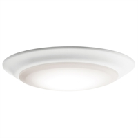 "Picture for category Flush Mounts 1 Light Fixture with White Finished Steel Material LED 8"" 15 Watts"