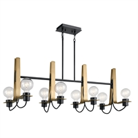 Picture for category Chandeliers 8 Light With Black Finish Steel Drum Material Medium 16 inch 480 Watts