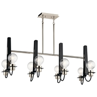 Picture for category Chandeliers 8 Light With Polished Nickel Finish Steel Material Medium 16 inch 480 Watts
