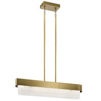 "Picture for category Chandeliers 2 Light Fixture with Natural Brass Finish Steel Material LED 6"" 64 Watts"