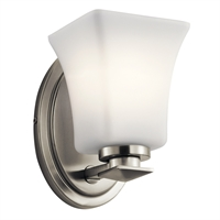 Picture for category RLA Kichler RL-238302 Wall Sconces Brushed Nickel Steel Clare