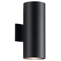 "Picture for category Wall Sconces 2 Light Fixtures With Black Finish Aluminum Material Medium Bulb 6"" 240 Watts"