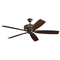 Picture for category RLA Kichler RL-260048 Indoor Ceiling Fans Tannery Bronze Steel Monarch
