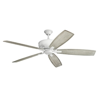 Picture for category RLA Kichler RL-260049 Indoor Ceiling Fans White Steel Monarch