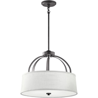 "Picture for category Flush Mounts 3 Light Fixtures With Anil Iron Finish Steel Material Medium Bulb 18"" 300 Watts"