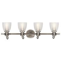 "Picture for category Bathroom Vanity 4 Light Fixture with Classic Pewter Finish Steel Material Medium 33"" 300 Watts"