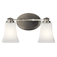 "Picture for category Bathroom Vanity 2 Light Fixtures With Brushed Nickel Finish Steel Material Medium Bulb 14"" 150 Watts"