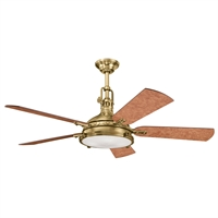 Picture for category Indoor Ceiling Fans 4 Light With Burnished Antique Brass Finish 16 inch 160 Watts