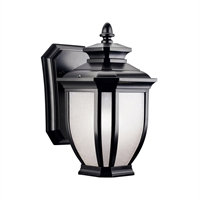 "Picture for category Wall Sconces 1 Light Fixture with Black Tone Finish Medium Bulb Type 6"" 60 Watts"