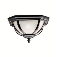Picture for category Outdoor Wall Sconces 2 Light With Black Finish Medium Base Bulb 14 inch 120 Watts