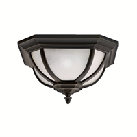 Picture for category Outdoor Wall Sconces 2 Light With Rubbed Bronze Finish Medium Bulb 14 inch 120 Watts