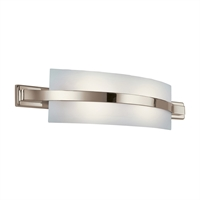 Picture for category Bathroom Vanity 2 Light With Polished Nickel Finished GU24 Bulb 28 inch 26 Watts