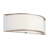 "Picture for category Wall Sconces 1 Light Fixtures With Polished Nickel Finish GU24 Bulb Type 15"" 18 Watts"