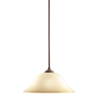 "Picture for category Pendants 1 Light Fixtures With Olde Bronze Finish Medium Bulb Type 14"" 150 Watts"