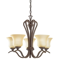 Picture for category Chandeliers 5 Light With Olde Bronze Finished Medium Base Bulb 22 inch 500 Watts