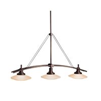 Picture for category Island Lighting 3 Light With Olde Bronze Tone Finish MNCN Bulb 9 inch 300 Watts