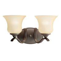 "Picture for category Bathroom Vanity 2 Light Fixtures With Olde Bronze Finish Medium Bulb Type 15"" 200 Watts"