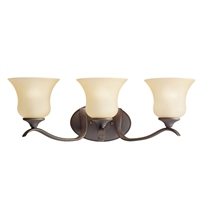 "Picture for category Bathroom Vanity 3 Light Fixtures With Olde Bronze Finish Medium Bulb Type 24"" 300 Watts"