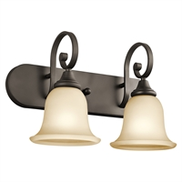 "Picture for category Bathroom Vanity 2 Light Fixtures With Olde Bronze Finish Medium Bulb Type 18"" 200 Watts"