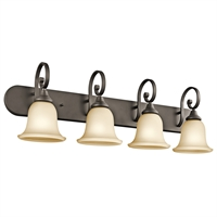 Picture for category Bathroom Vanity 4 Light With Olde Bronze Finish Medium Base Bulb 36 inch 400 Watts