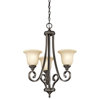 Picture for category Chandeliers 3 Light With Olde Bronze Finished Medium Base Bulb 23 inch 300 Watts