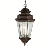 Picture for category Outdoor Pendant 4 Light With Olde Bronze Finish Candelabra Bulb 15 inch 240 Watts