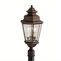 Picture for category Outdoor Post 3 Light With Olde Bronze Finish Candelabra Base Bulb 12 inch 180 Watts