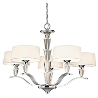 Picture for category Chandeliers 5 Light With Chrome Finished Candelabra Base Bulb 30 inch 300 Watts