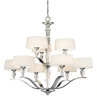 Picture for category Chandeliers 9 Light With Chrome Finished Candelabra Base Bulb 37 inch 540 Watts