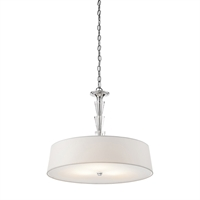 "Picture for category Pendants 3 Light Fixtures With Chrome Tone Finish Medium Bulb Type 24"" 300 Watts"