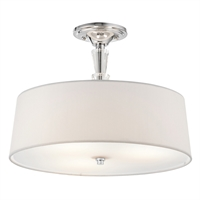 "Picture for category Semi Flush 3 Light Fixtures With Chrome Finished Medium Bulb Type 15"" 300 Watts"
