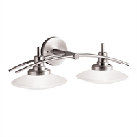 "Picture for category Bathroom Vanity 2 Light Fixtures With Brushed Nickel Finish MNCN Bulb Type 21"" 200 Watts"