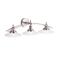 "Picture for category Bathroom Vanity 3 Light Fixtures With Brushed Nickel Finish MNCN Bulb Type 30"" 300 Watts"