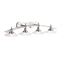"Picture for category Bathroom Vanity 4 Light Fixtures With Brushed Nickel Finish MNCN Bulb Type 40"" 400 Watts"