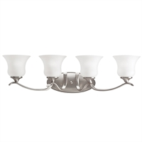 "Picture for category Bathroom Vanity 4 Light Fixture with Brushed Nickel Finish Medium 32"" 400 Watts"