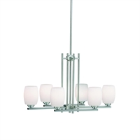 "Picture for category Island Lighting 6 Light Fixture with Brushed Nickel Finish Medium 17"" 600 Watts"