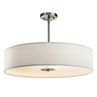 "Picture for category Pendants 3 Light Fixtures With Brushed Nickel Finish Medium Bulb Type 24"" 450 Watts"