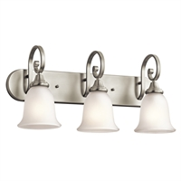 "Picture for category Bathroom Vanity 3 Light Fixtures With Brushed Nickel Finish Medium Bulb Type 24"" 300 Watts"