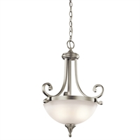 "Picture for category Pendants 2 Light Fixtures With Brushed Nickel Finish Medium Bulb Type 18"" 200 Watts"