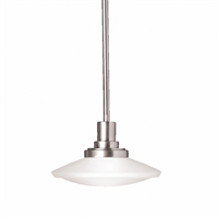 "Picture for category Mini Pendants 1 Light Fixture with Brushed Nickel Tone Finish MNCN 10"" 100 Watts"