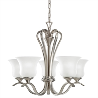 "Picture for category Chandeliers 5 Light Fixtures With Brushed Nickel Finish Medium Bulb Type 22"" 500 Watts"