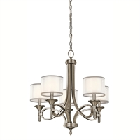 Picture for category Chandeliers 5 Light With Antique Pewter Finish Candelabra Bulb 25 inch 300 Watts